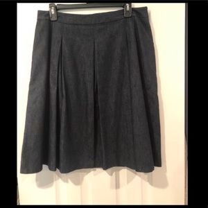 The Limited Dark Wash Pleated Skirt